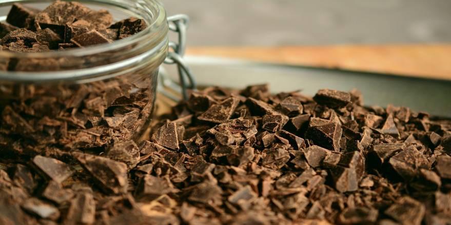 Krukke med chokolade